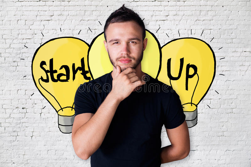 Start up idea concept royalty free stock photography