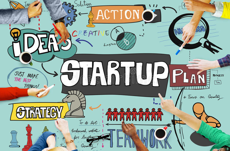 Start up Ideas Launch Mission Opportunity Concept stock image