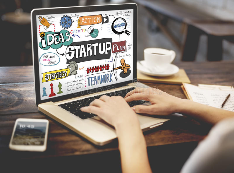 Start up Ideas Launch Mission Opportunity Concept.  royalty free stock photos