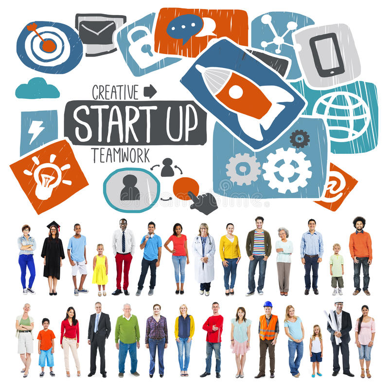 Start Up Launch Growth Success Idea Business Concept royalty free stock photography