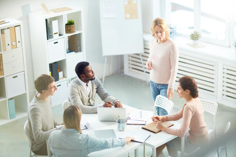 Start-up meeting of colleagues royalty free stock images