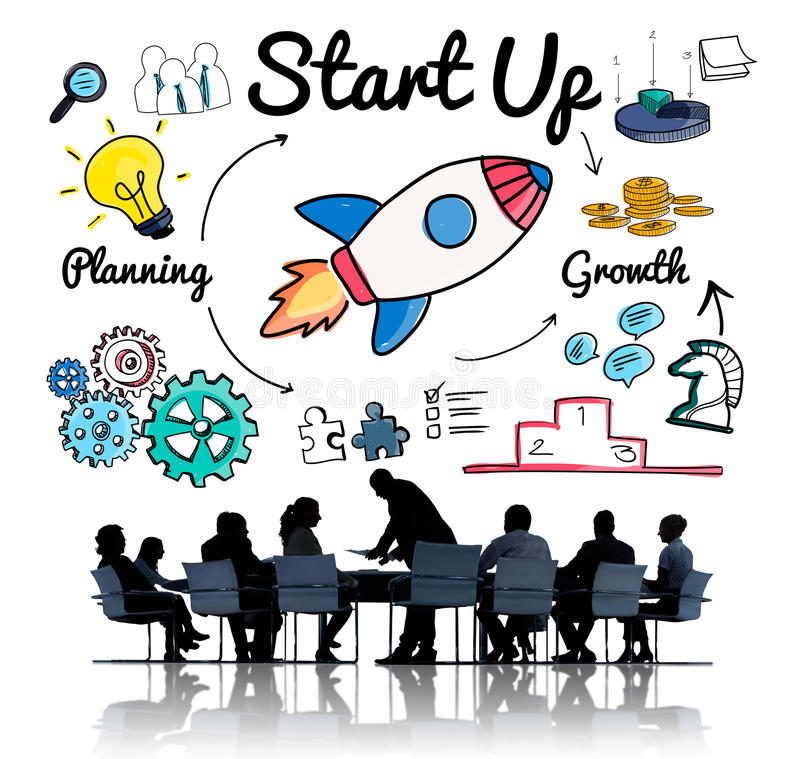 Start up Planning Growth Development Launch Concept stock image