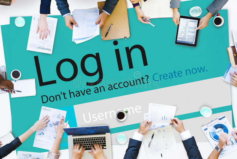 Start up Registration Member Joining Account Concept.  royalty free stock photos