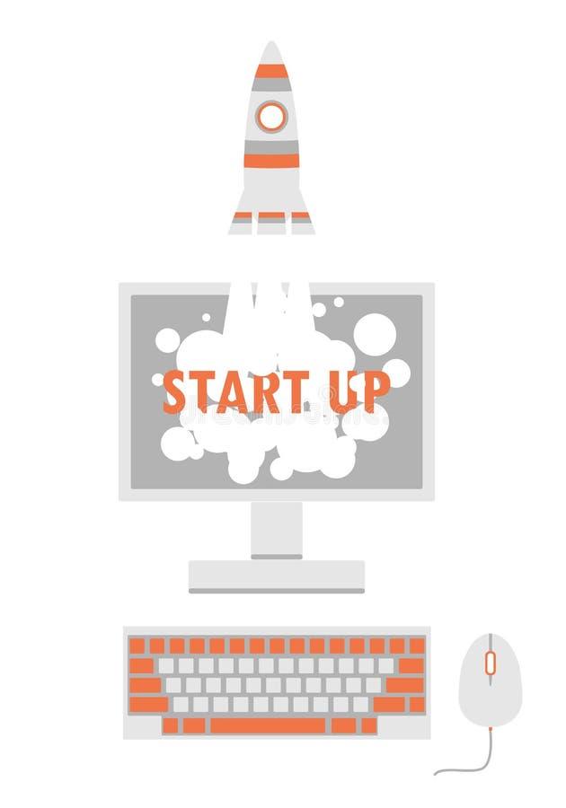 Computer Screen Rocket Ship Space Stock Illustrations – 221 Computer