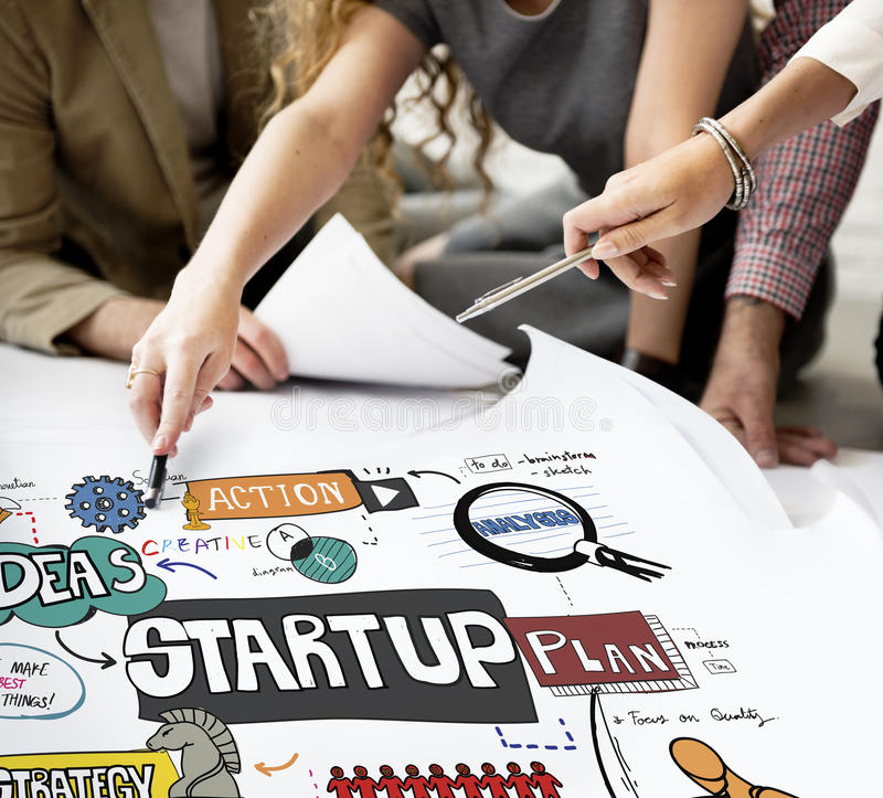 Start Up Strategy Creative Launch Opportunity Concept.  stock images