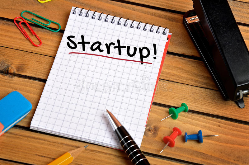 Start up word stock photos