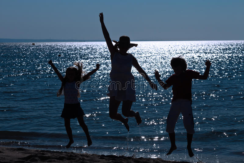 Start of the vacation at the sea shore royalty free stock photo