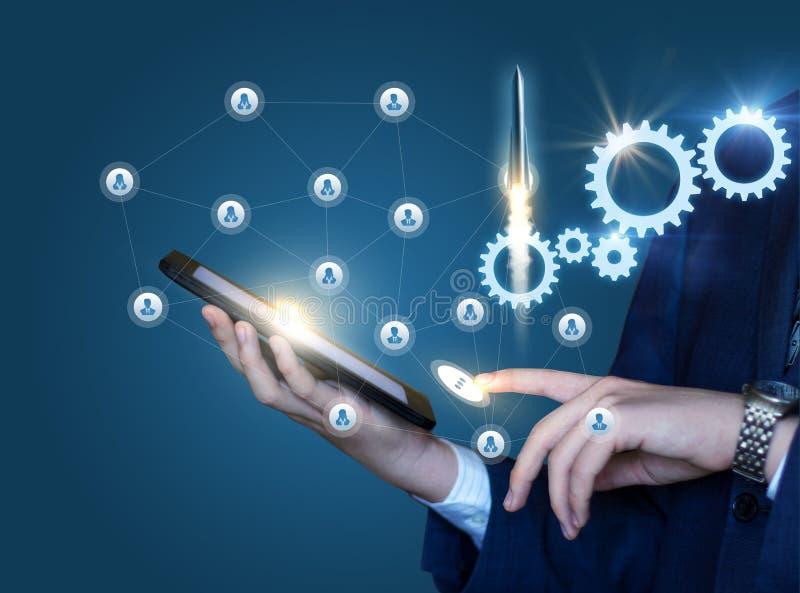 Start von innovativen Technologien im Geschäft lizenzfreies stockfoto