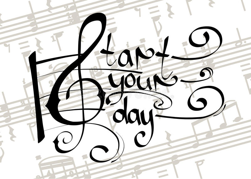 Start your day with music stock images
