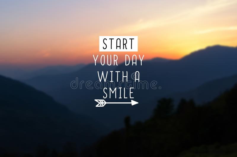 Start your day with a smile. royalty free stock images