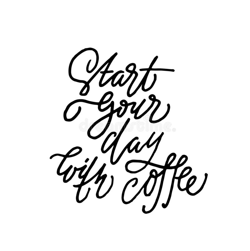 Starta din dag med kaffe royaltyfri illustrationer