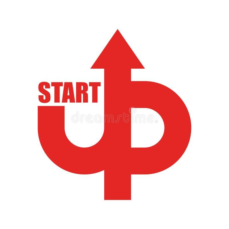 Starta upp logoen Startup emblem Rinnande affär Få fallet r vektor illustrationer