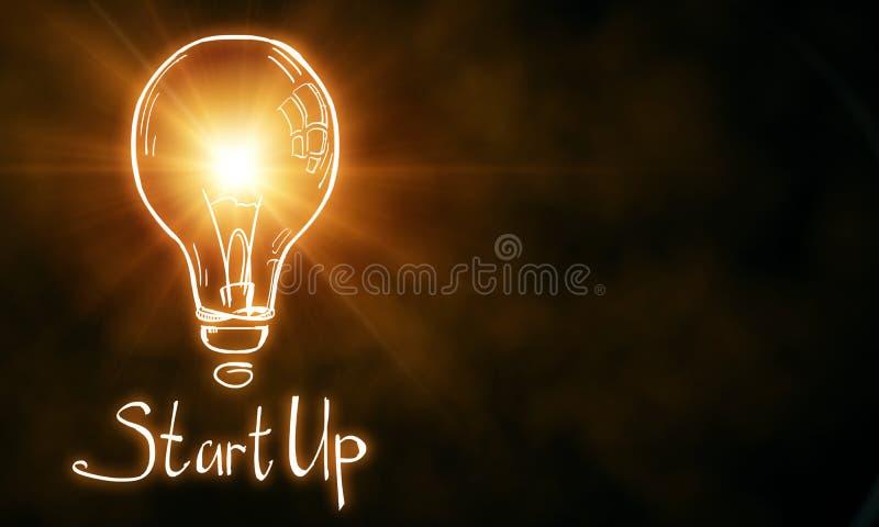 Starta upp och id?begreppet vektor illustrationer