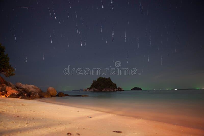 Startail w nocy zdjęcia stock