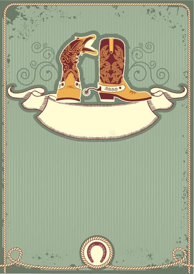 startar cowboyen royaltyfri illustrationer