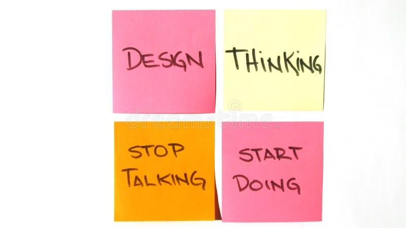Startar det tänkande stoppet för designen som talar, att göra för att posta det royaltyfri fotografi