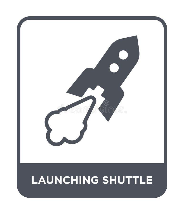 startende Shuttleikone in der modischen Entwurfsart startende Shuttleikone lokalisiert auf weißem Hintergrund startende Shuttleve vektor abbildung