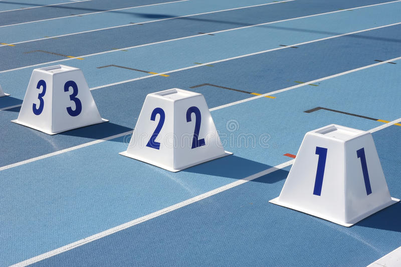 Starting cones royalty free stock image