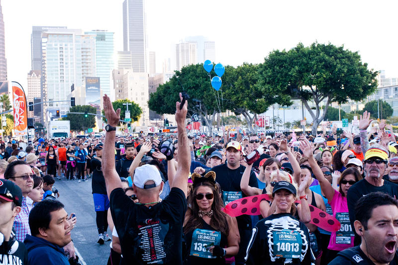 Download Starting Gate At The Rock 'n Roll Marathon Editorial Stock Image - Image: 21816129