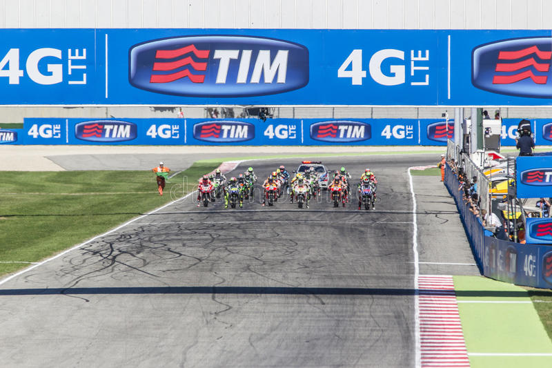 Starting grid of the MotoGP race in Misano royalty free stock photo