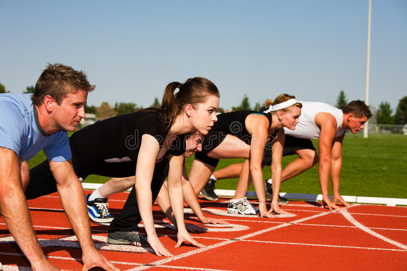 Starting Line stock photography