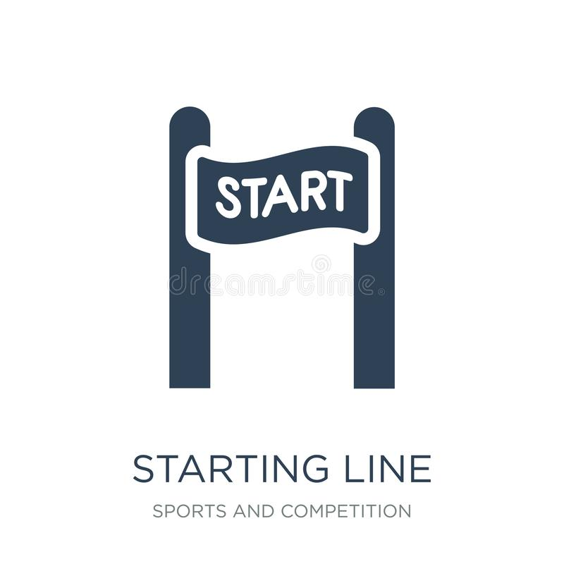 Starting line icon in trendy design style. starting line icon isolated on white background. starting line vector icon simple and. Modern flat symbol for web royalty free illustration