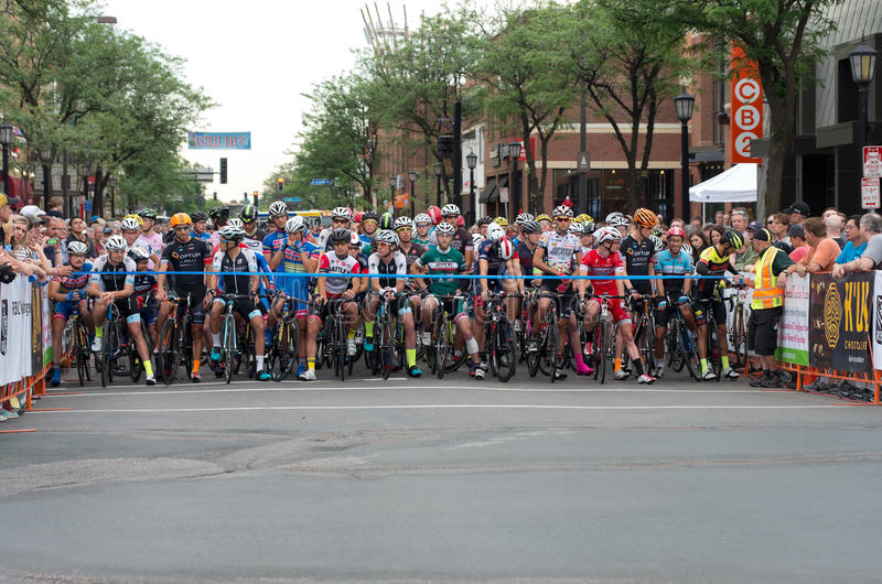 Starting Line for Uptown Criterium royalty free stock photo