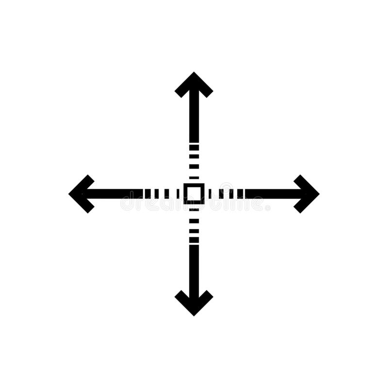 Starting point sign. Four side arrow sign. Eps ten royalty free illustration