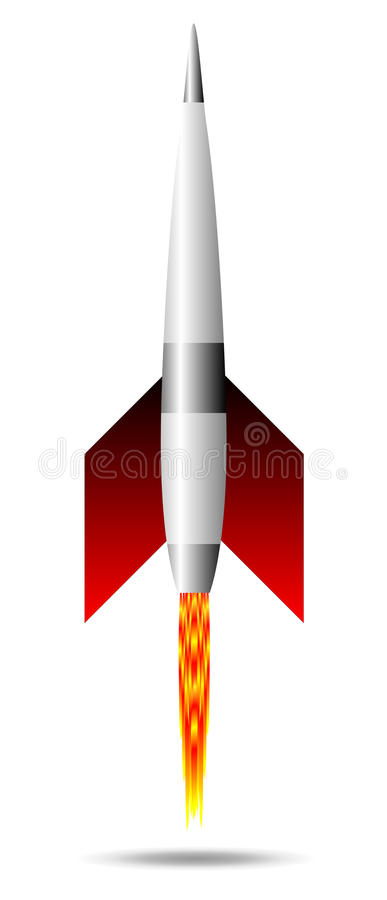 Starting rocket stock illustration