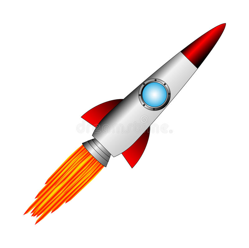 Starting rocket royalty free illustration