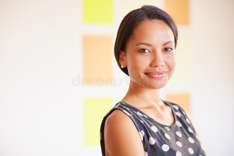 Starting your own company feels great! stock photography