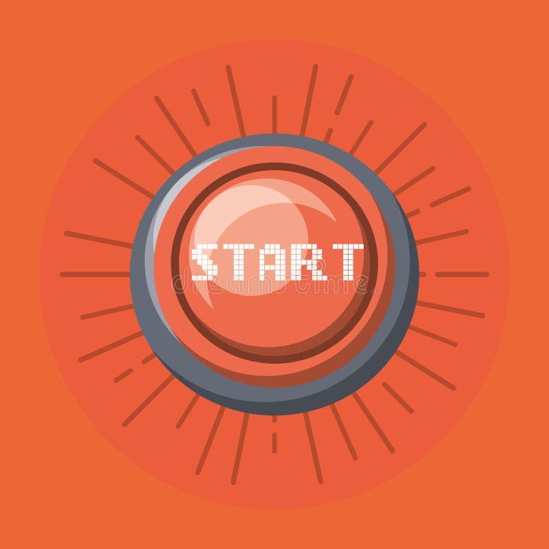 Startknappsymbol stock illustrationer