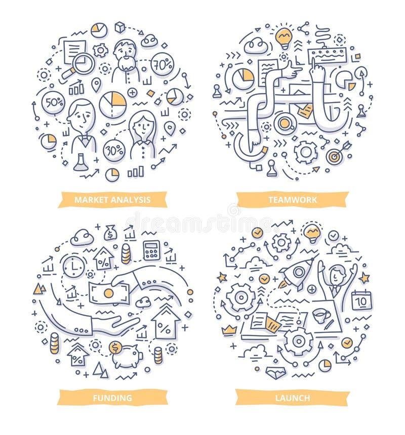 Startkrabbelillustraties royalty-vrije illustratie