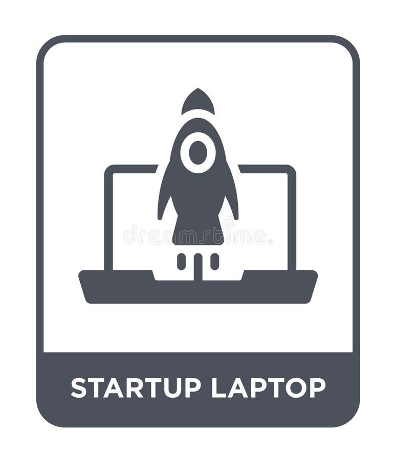 startlaptop pictogram in in ontwerpstijl startdielaptop pictogram op witte achtergrond wordt geïsoleerd startlaptop vector eenvou vector illustratie