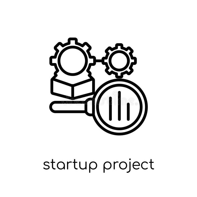startprojectzoekpictogram van Startinzameling stock illustratie