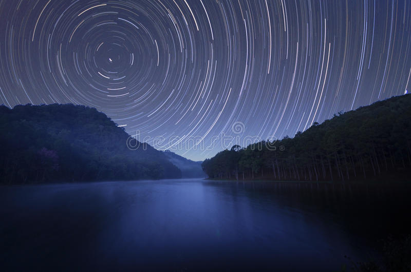 Startrails stock foto