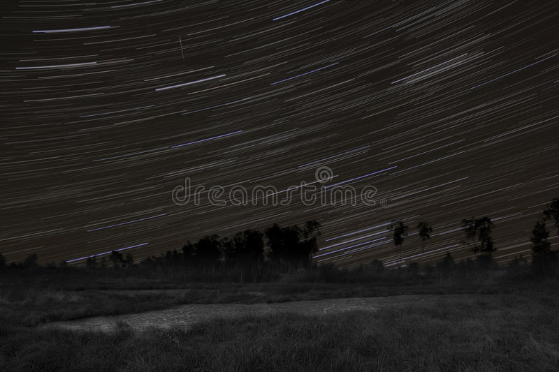Download Startrails With Orionid Meteor Stock Photo - Image of earth, nature: 3530894