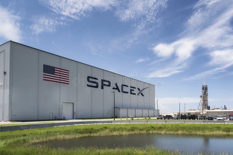 Startramp för utrymme X i Cape Canaveral, Florida arkivbild