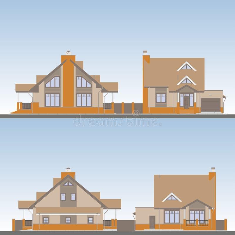 Startsida vektor illustrationer