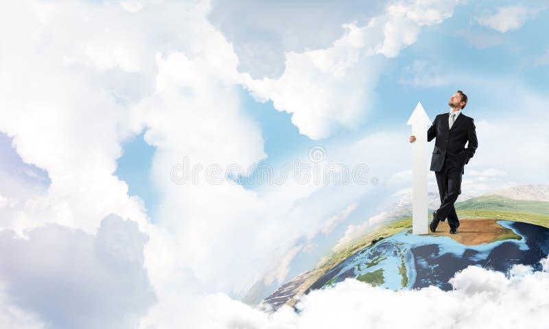 Startup begreppsmässig bild för affärsman stock illustrationer