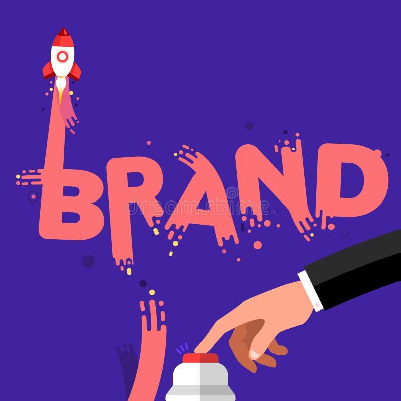 startup brand stock illustration