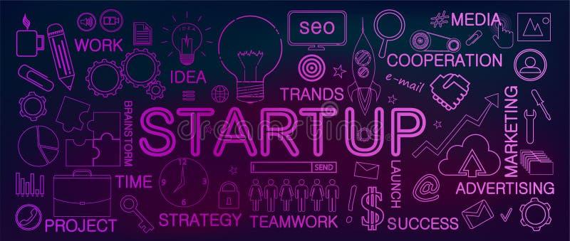Startup business concept. vector illustration