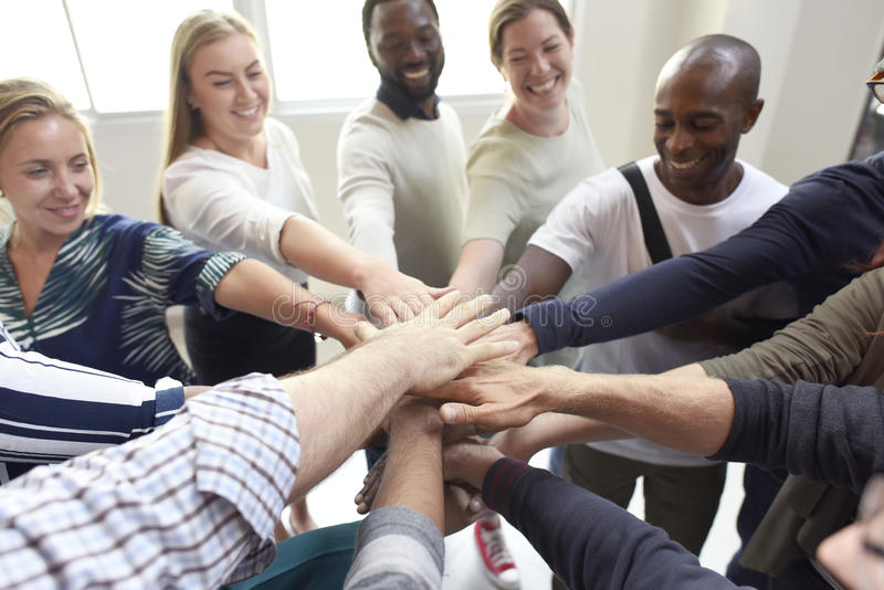 Startup Business People Teamwork Cooperation Hands Together stock photo
