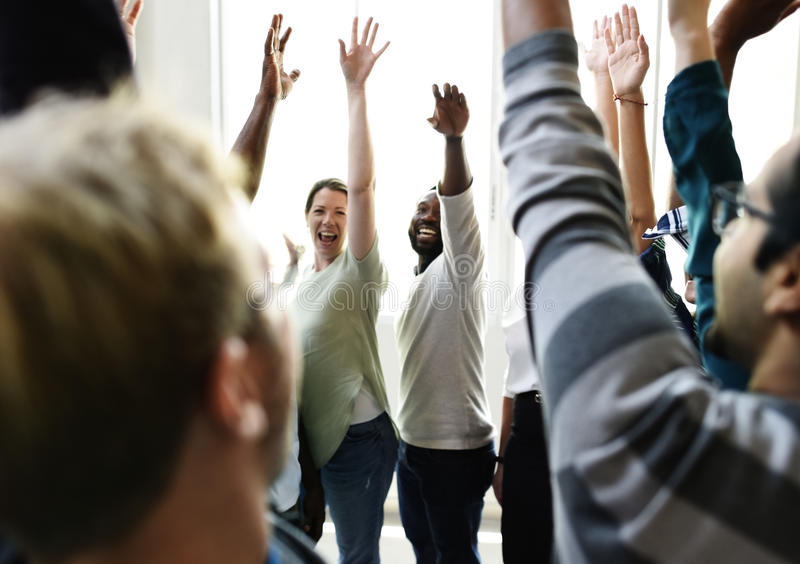 Startup Business People Teamwork Cooperation Hands Up Agreement. Together stock images