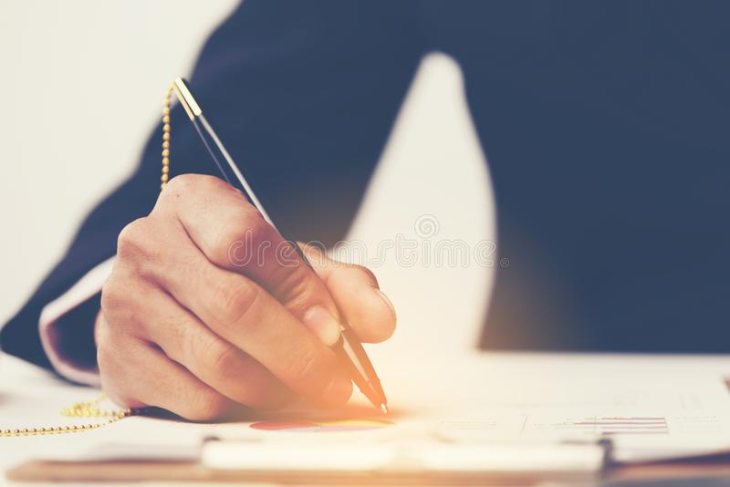 Startup Business Person Designing on Website Content Layout on P stock image