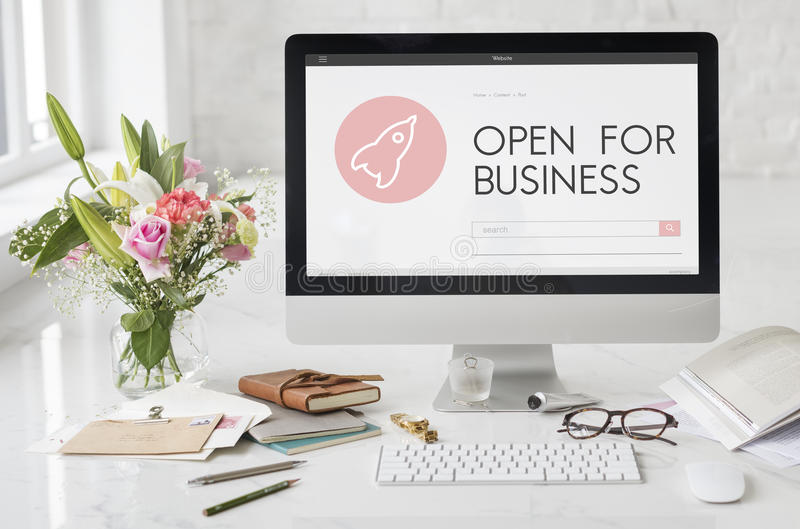 Startup Business Spaceship Goals Launch Concept royalty free stock images
