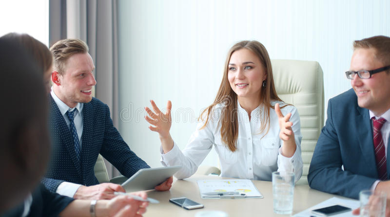 Startup business team royalty free stock photo
