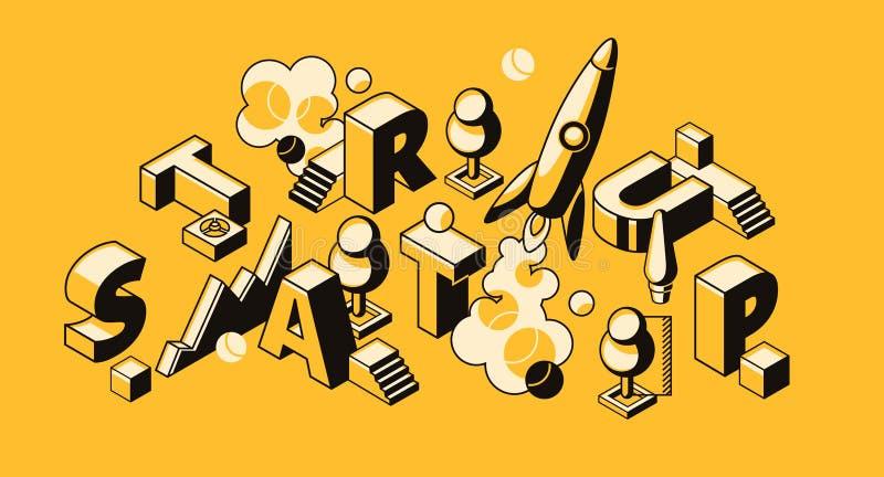 Startup business project vector illustration stock illustration