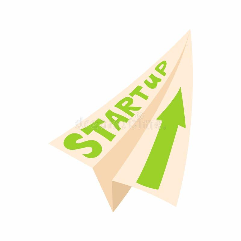 Startup concept icon, cartoon style royalty free illustration