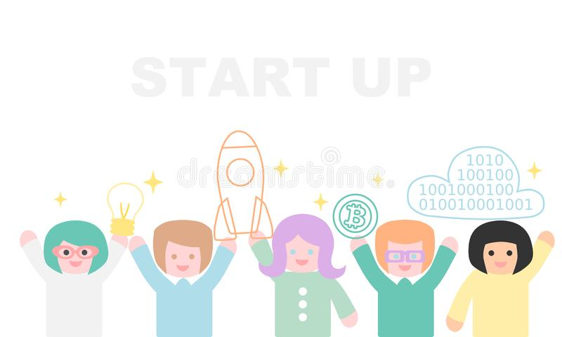 Startup with copy space stock illustration